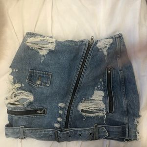 Carmar jean skirt- bought from LF store
